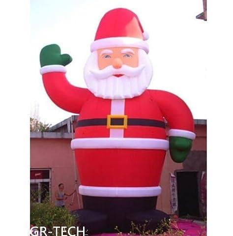 gr-tech Instrument® 26'Aufblasbarer Weihnachtsmann Weihnachten Urlaub Dekoration mit Gebläse 220V oder 110V