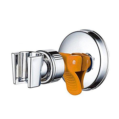 thanly bagno cromato lucido Handheld doccia montaggio a parete Forte ventosa supporto per doccetta, Supporto girevole 360gradi regolabile testa staffa