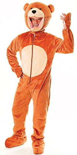 Mens Ladies Brown Teddy Bear Mascot Animal Festival Stag Hen Do Fancy Dress Costume Outfit (One Size)