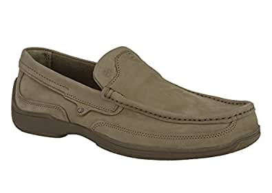Woodland Men's Khaki Moccasins - 6 UK/India (40 EU)(GC 1864115)