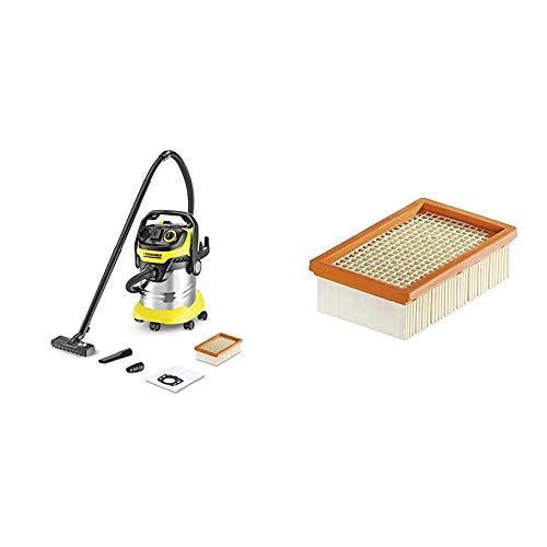 Kärcher Mehrzwecksauger WD 5 P Premium, 1.348-234.0 + Kärcher Flachfaltenfilter für WD 4-6 und MV 4-6