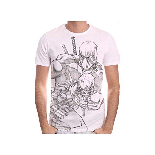 Tshirt homme Marvel - Deadpool Sketch - X-Large