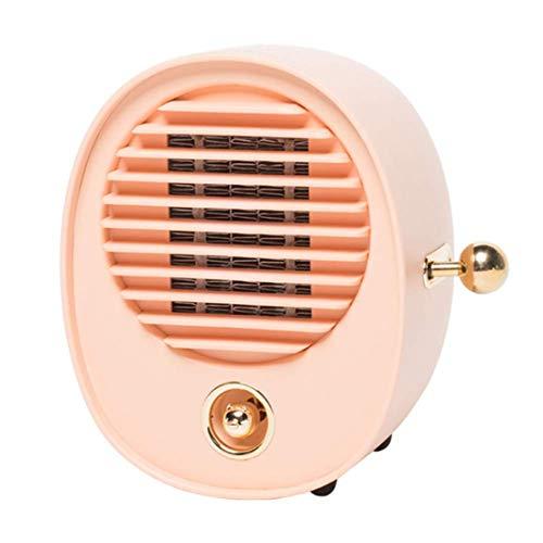 Yeying123 Ruhige Mini-Feinheizung 2 Second Speed Heat Portable Electric Indoor Heater Low Decibel Mit Überwärmeschutz Für Home/Office/Bedroom.500W,Pink (Portable öl Gefüllt Heizung)