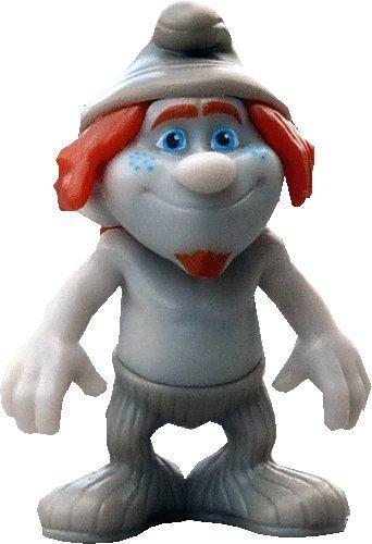 Kinder Überraschung, Hibbel Schlumpf Figur mit deutschen Beipackzettel aus der Serie - Die Schlümpfe 2