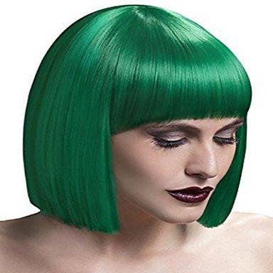HJL-capless couleur verte longueur moyenne de haute qualit¨¦ perruque synth¨¦tique droite naturelle , green