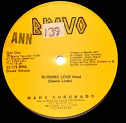 Burning Love [Vinyl Single 12''] - Coronado Single