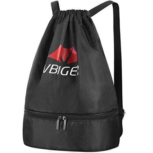 Vbiger Mochila Cuerda Unisex con Bolsas Zapatos para Deporte Gimnasio Senderismo Bicicleta Nadar