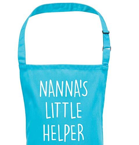 Wi33bbon Kinderschürze für Nannas Little Helper Junge Mädchen Kleinkinder Junioren Muttertag Geburtstag Idee