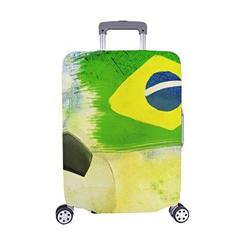 (Nur abdecken) VintageSoccer Ball Brazil 2014 Spandex Staubschutz Trolley Protector case Reisegepäck Beschützer Kofferabdeckung 28.5 X 20.5 Zoll