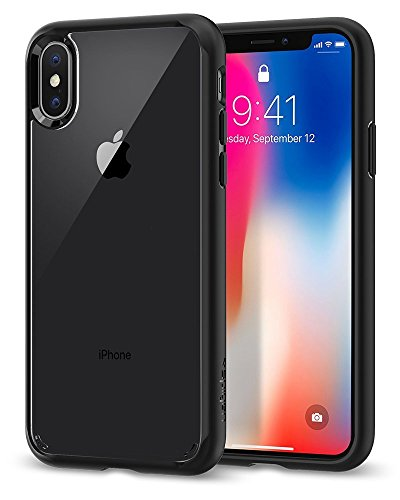 Funda iPhone X, Spigen® [Ultra Hybrid] Tecnología de cojín de aire y protección híbrida de la gota para iPhone X (2017) [Negro]