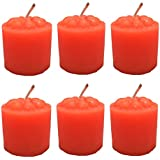 PN Premium Decorative Basic Diwali Candles Set Of 6-Neon Orange