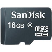 Carte Mémoire MicroSDHC SanDisk 16 Go Classe 4 (SDSDQ-016G-FFP)