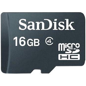 SanDisk SDSDQ-016G-FFP 16 GB MicroSDHC Memory Card - Frustration-Free Packaging (Label May Change)