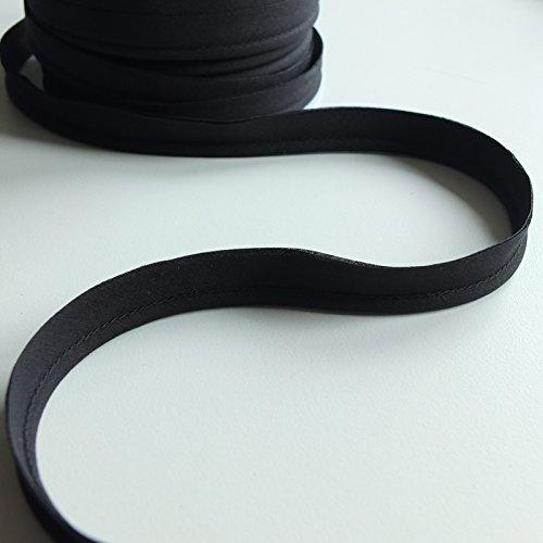 m Einsatz Paspelierung Cord Poly Baumwolle Bias Schnitt–Meterware–viele Farben, Polyester baumwolle, schwarz, 7 mm ()