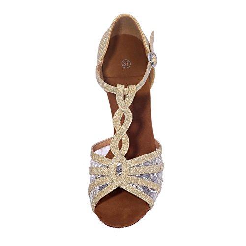 Donne Latino Scarpe Da Ballo Tacco 7,5 Centimetri Sandali Da Ballo In Raso Può Essere Personalizzato Black