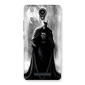Gorgeous White Moon Knight Multicolor Back Case Cover for Redmi Note 2
