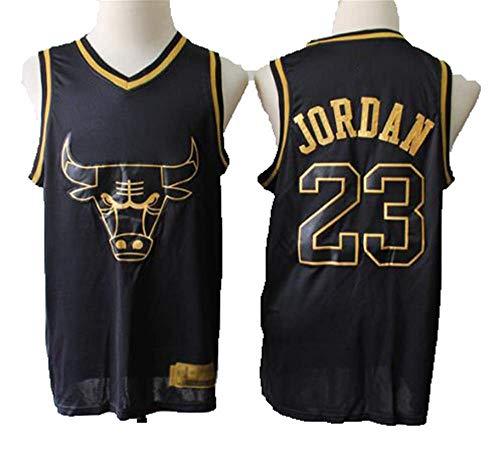 Bulls Vintage Champion Michael Jordan Vintage-Trikot Chicago Bulls # 23 Cooles, Atmungsaktives, Ärmelloses Unisex-T-Shirt,M:175cm/65~75kg -