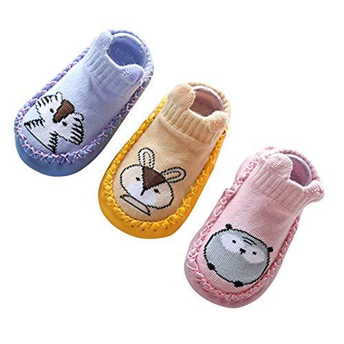 0f34fffd8884a Happy Cherry Nouveau né Chaussures Coton Semelles Souples Bébé Fille Premier  Pas chaussons Motif Mignon Chaussettes
