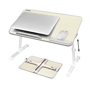 nearpow laptoptisch betttablett verstellbar betttisch b cherst nder notebooktisch tragbarer. Black Bedroom Furniture Sets. Home Design Ideas