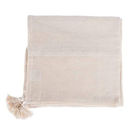 Homescapes jetã © Bettwäsche und jetã © canapã © Rajput-Farbe weiß natur-254x 355cm aus reiner Baumwolle