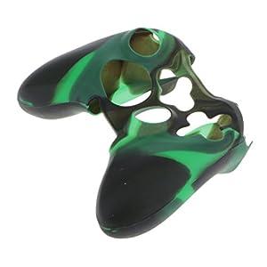 Unbekannt Ersatz Silikon Schutzhülle für Xbox 360 Game Controller grünschwarz