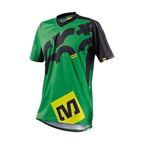 T-Shirts Mountainbike Motorrad Reitanzug Fahrradrennen Abseilen kurzes T-Shirt Lässig Bequem (Color : 5, Size : XS) - Lässige Motorrad-shirts