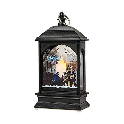 LILIGOD Halloween Kürbis Licht Lampe Tür Raumdekoration LED Laterne Party Home Requisiten Halloween-Nacht Beleuchtet Simuliertes Flammenlicht Halloween-Beleuchtung -