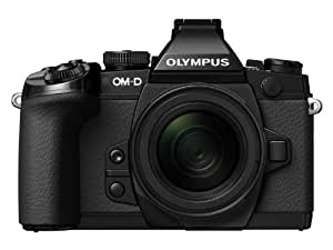 Olympus OM-D EM-1 Compact System Camera - Black (16.3MP, Live MOS, M.Zuiko 12-50mm Lens) 3.0 inch Tiltable Touch Screen LCD