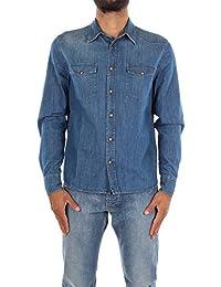 GEC028BLEU Prada Chemises Homme Coton Bleu