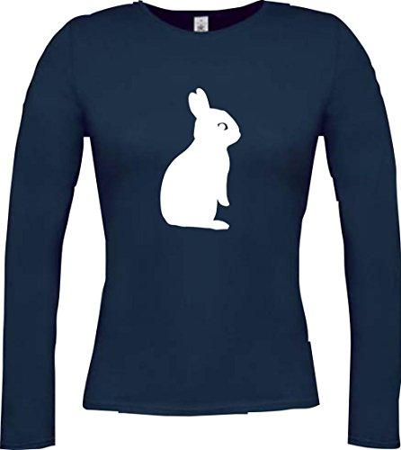 Crocodile lady t-shirt à manches longues motif lapin avec coucou nature wildness rat, lapin rabbit plusieurs coloris taille xS à xXL Bleu - Bleu