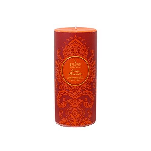 Shearer Candles SC7603 - Vela de invierno con diseño victoriano, color naranja