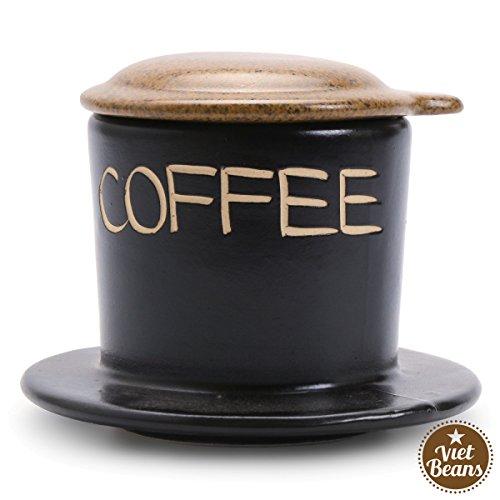 VietBeans Keramikfilter – Handgefertigter Vietnamesischer Kaffeefilter – Cafe Phin Kaffee...