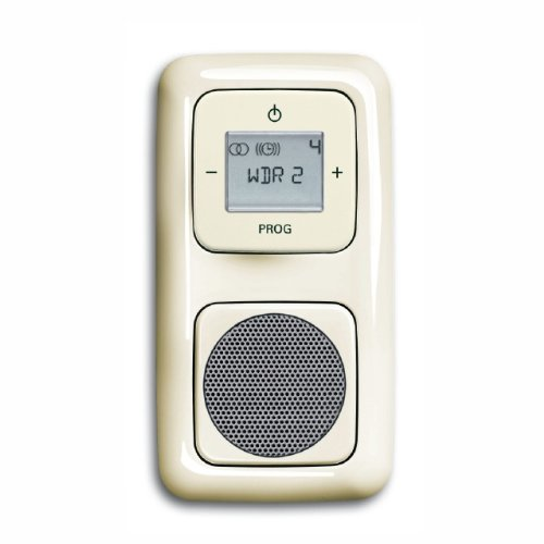 Preisvergleich Produktbild Komplett-Set BUSCH-JAEGER, Digitalradio, Lautsprecher -cremeweiß- -Duro 2000-