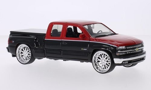 chevrolet-silverado-1999-extended-cab-tuning-red-black-124-welly