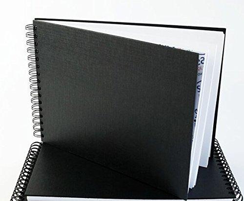 A4Einband Querformat Ringbuch weiß säurefreies Papier, 50Blatt–geeignet für Bleistifte,...