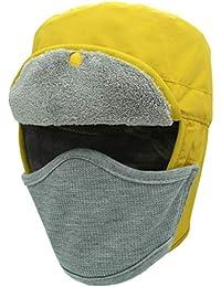 cc9f800e7eb outfly Winter Waterproof Bomber Hats Men and Women Mask Hunter Trooper  Trapper Hat Ushanka Aviator Ski