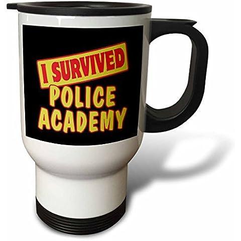 statuear sopravvissuto Accademia di polizia in acciaio inox 14-ounce Tazza Da Viaggio
