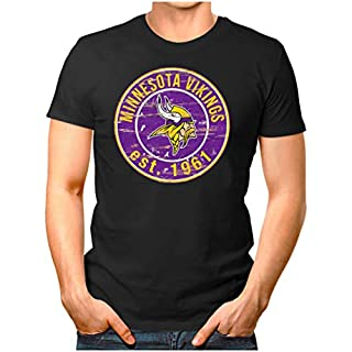 OM3® - Minnesota-Badge - T-Shirt   Herren   American Football Shirt   XXL, Schwarz