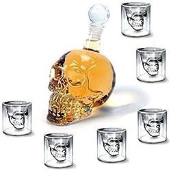 SHINA - Juego de chupitos (6 unidades, 750 ml), cristal interior