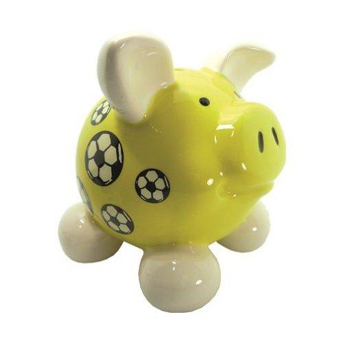 Swiggie Sparschwein Fussball gelb mittel Sparschweinchen Schweinchen