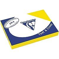 Clairefontaine Text & Cover - Mini resma de cartulina, 100 hojas, A4, 21 x 29.7 cm, color amarillo
