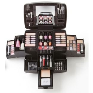 Afeite Pretty Pink Deluxe Make-up Set And Cosmetics Case.