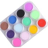 12 colores mezclados de polvo acrílico para decoración de uñas (polvo acrílico)