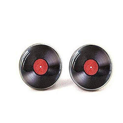 Vinyl Record Manschettenknöpfe. LP Manschettenknöpfe. DJ Manschettenknöpfe für Herren. Retro Musik