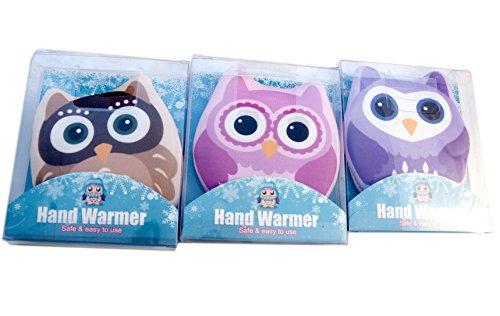 Serenade-Confezione da 3gufo design click e calore Owl scaldamani