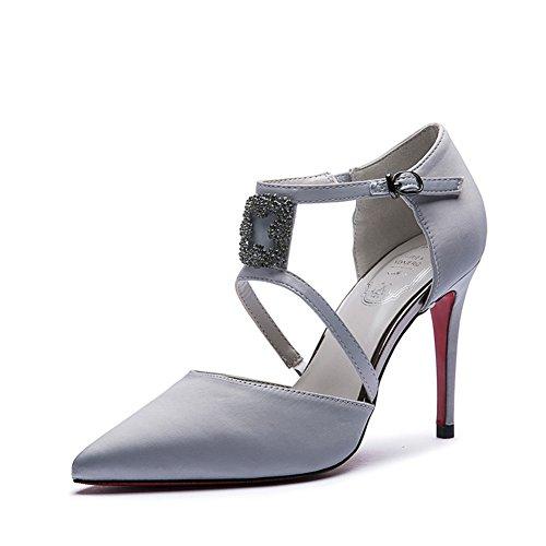 Printemps/ete Lady stilettos de strass boucle peu profondes coréen/Chaussures pointues B