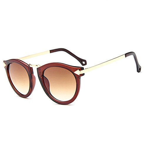 Z-P New Vintage For Women Round Reflective UV400 Arrow Sunglasses 60MM