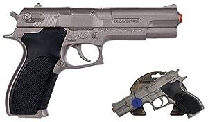 Gohner- Pistola Policía 8 Tiros - Plata, Multicolor (Gonher3045/0)