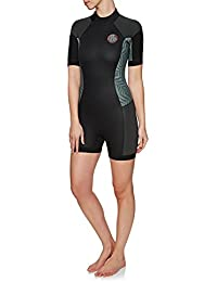 1e495d9857 RIP CURL Womens Dawn Patrol 2MM Back Zip Short Wetsuit Neon Pink -  Lightweight Materials