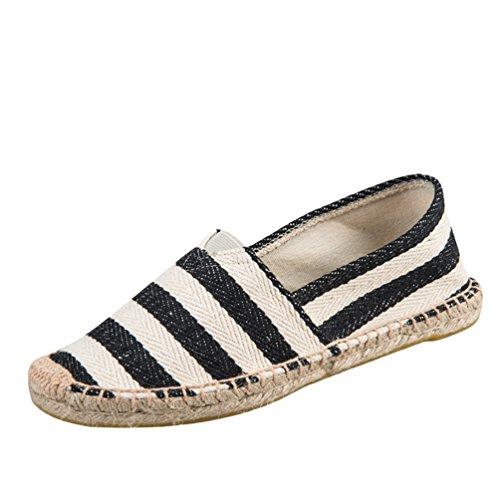 Dooxi Hommes Femmes Amoureux Décontractée Plat Loafers Chaussures Mode Confort Espadrilles 40(25cm)